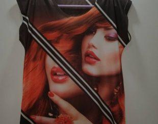 تی شرت طرح فانتزی چهره آک